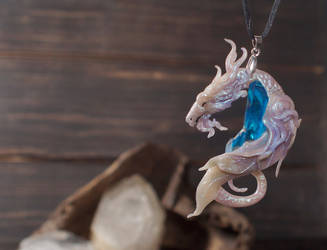 pearl dragon pendant by kessan