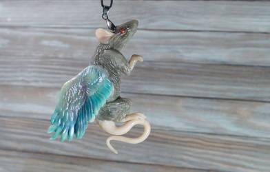 rat angel pendant