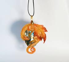 Fall mapple dragon pendant