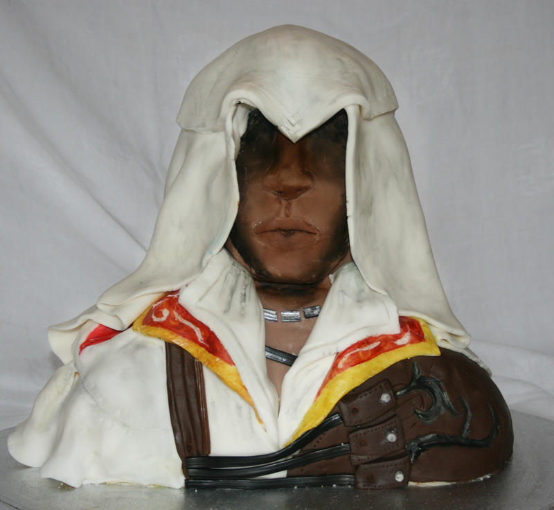 Ezio assassins creed cake by star-shine-girl