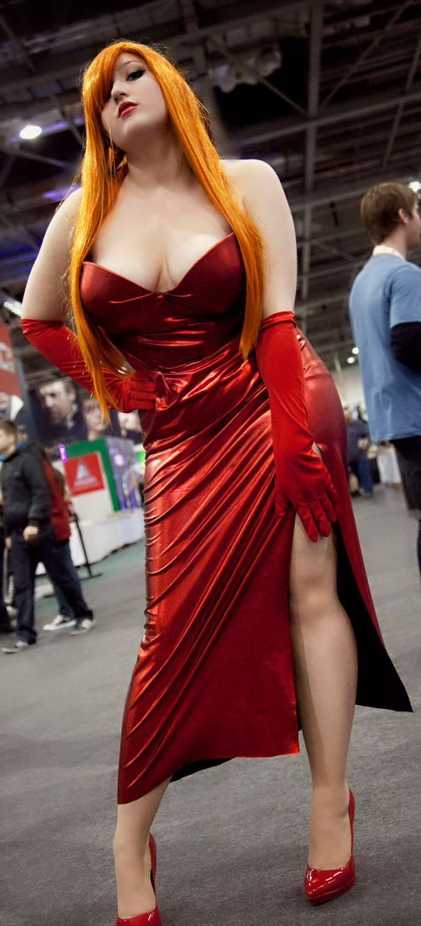 Jessica Rabbit cosplay 2 by star-shine-girl