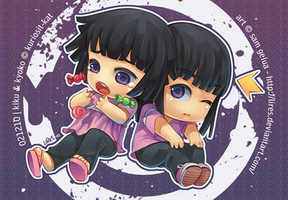 Commission: Kiku and Kyo by lires