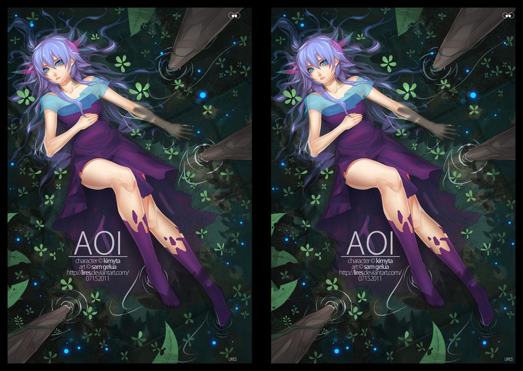 "Stereoscopic: Cross Eye ""Aoi"" by lires"