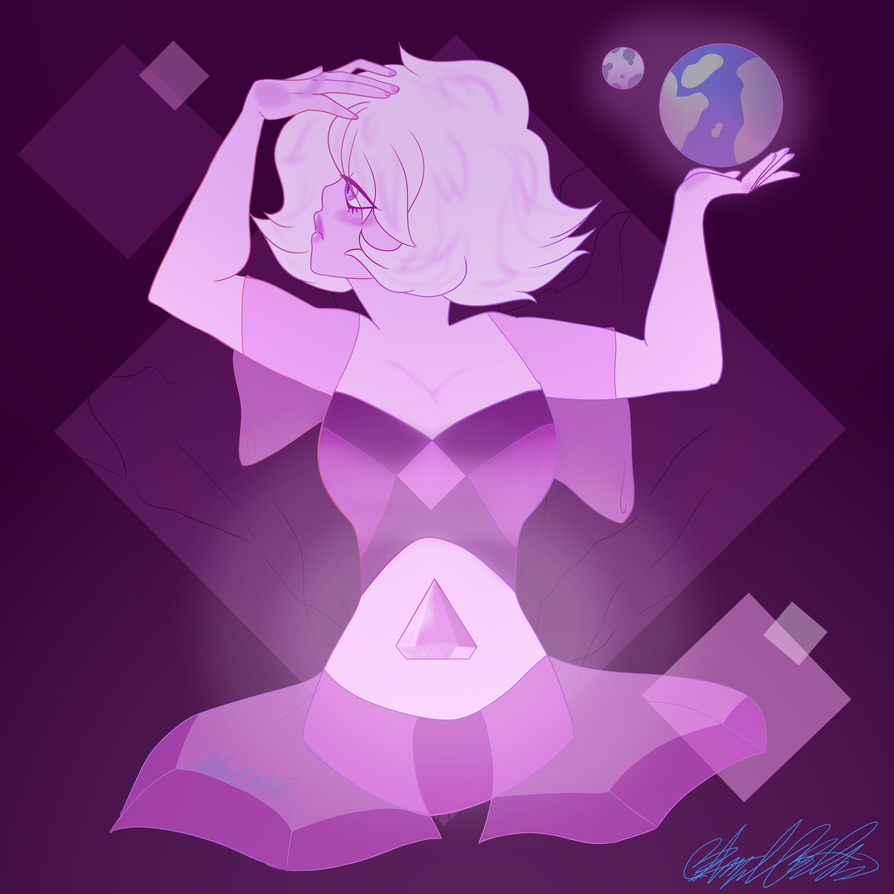 fan art of pink diamond from Steven universe