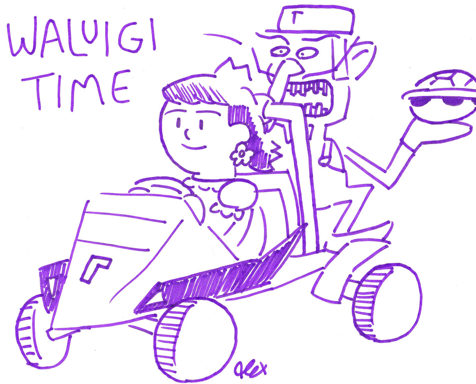 waluigi racer time by rosalinassoulmate on deviantart