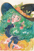 Green Hair Witch by Aadorah