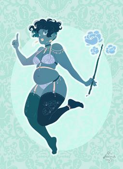 Blue lady Witch