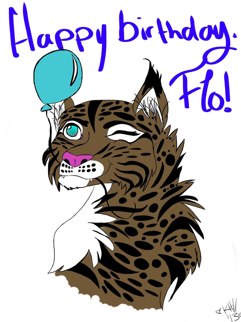 Happy birthday flo by electricwolf1212 on deviantart for How to draw flo