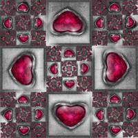 Fuchsia Hearts by CoffeeToffeeSquirrel