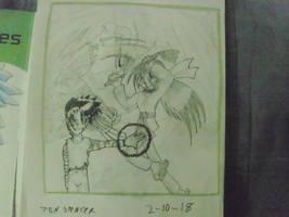 Illustration one - generic shonen cover