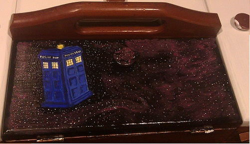 Dr.Who Tardis Painting by LoboFanGirl