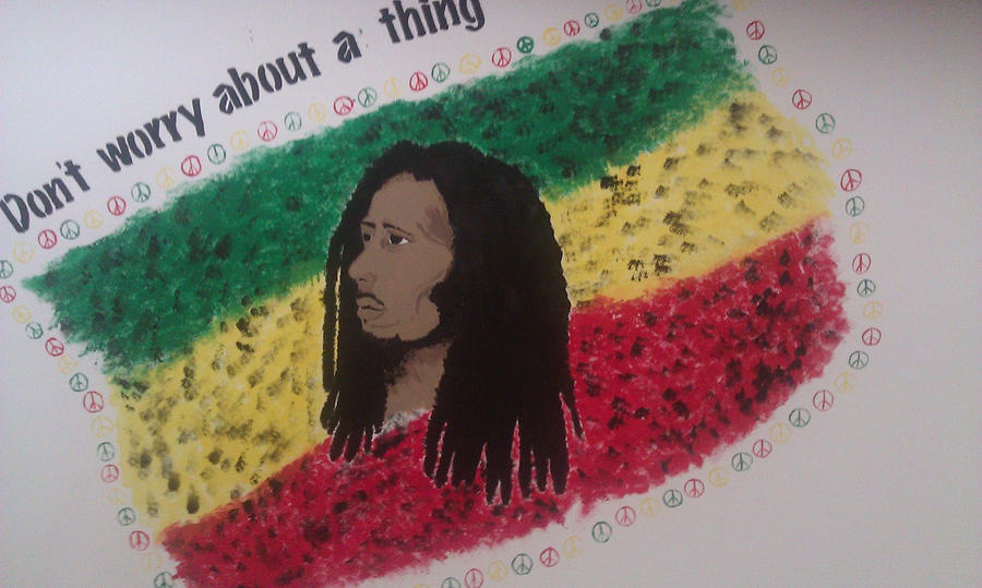 Bob marley mural by lobofangirl on deviantart for Bob marley mural