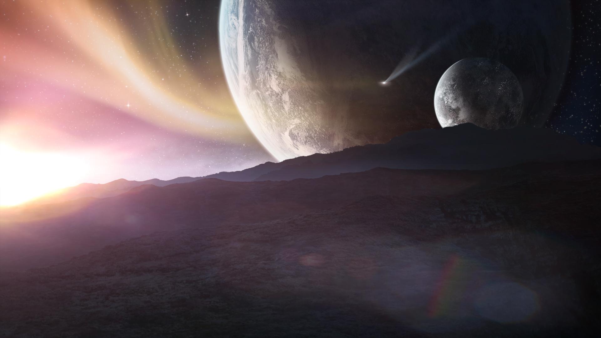 alien sunset wallpaper - photo #18