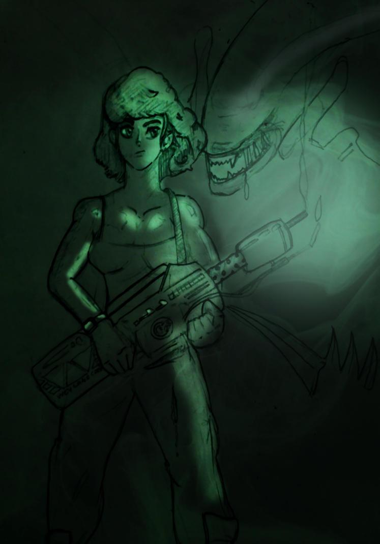Alien WIP by foxy-design1