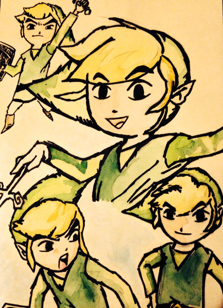 Windwaker water colour by foxy-design1