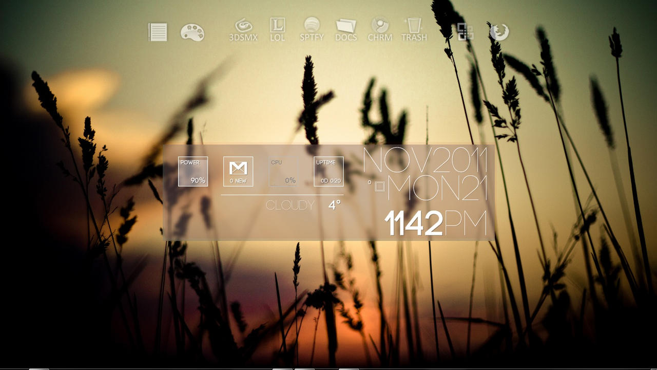 Smooth sundown desktop by Osar93