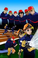 Jeunes sapeurs-pompiers by vincemuss
