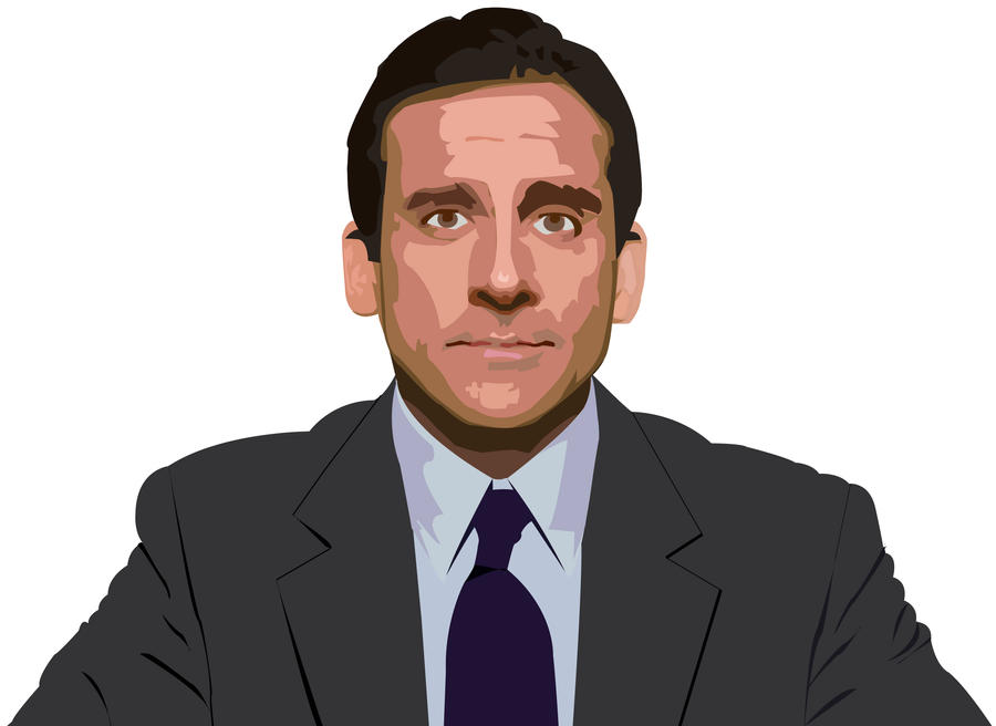 Steve Carell -Michael Scott by JackSkelling10