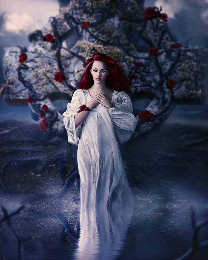 Celtic Goddess: Boann by FenneArts