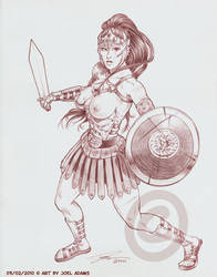 03-02-2010 - Gladiatrix by lilzart