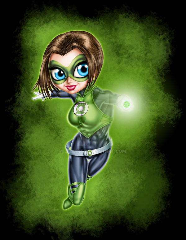 Lil Green Lantern Color by lilzart