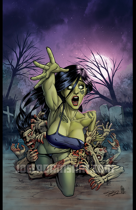 Zombie Tramp #50 Variant Cover by lilzart