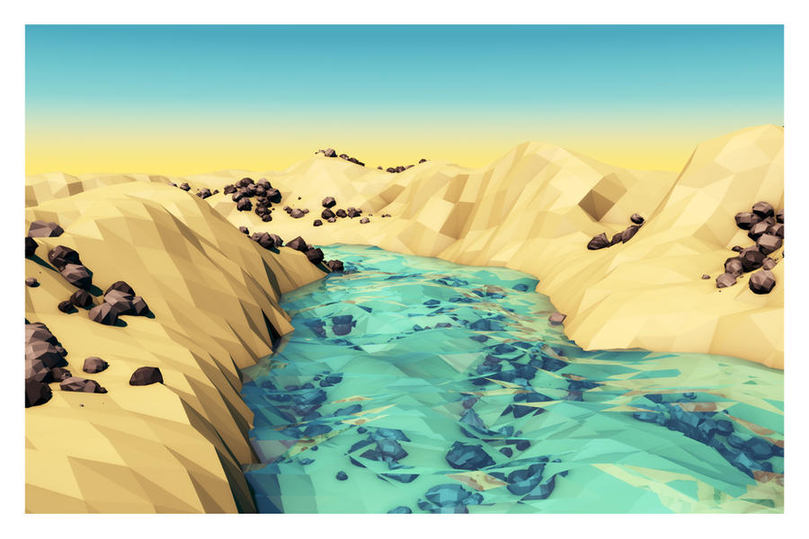 Low Poly Valley by rmartone