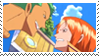 Stamp Zoro and Nami by francielenfortes