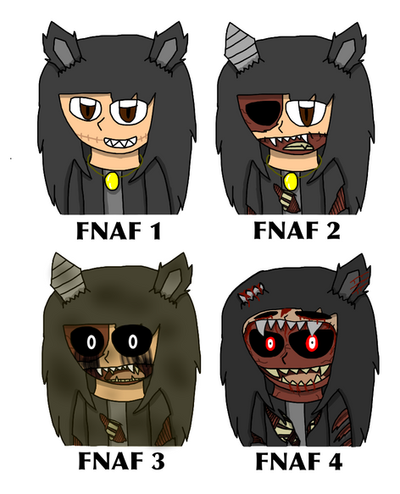 FNAF 0 - Forms in Other FNAF Games (Kuro) by Chibipie-Kagane