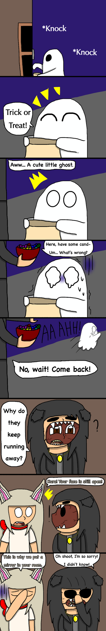 FNAF 0 - Face 'Reveal' (Halloween Special Comic) by Chibipie-Kagane
