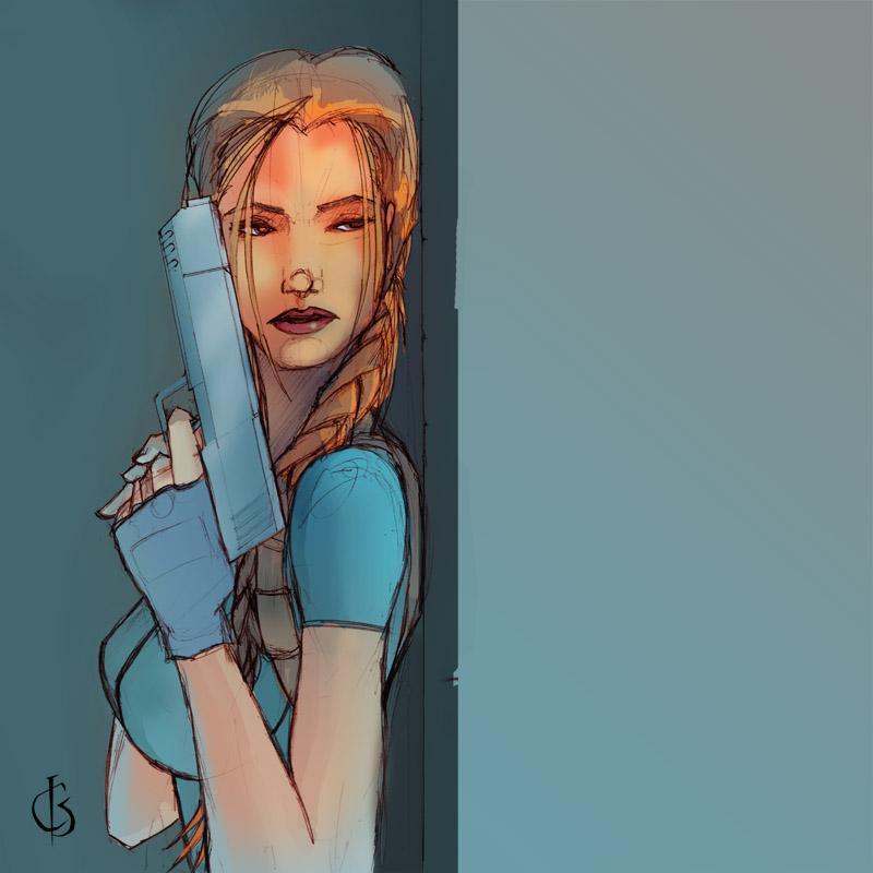 Lara in waiting by xiwik