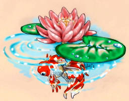 Winged Goldfish by Skitzobits