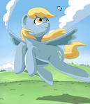 derpy flying by VinilyArt