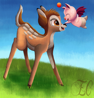Bambi Meets Moogle (Request)