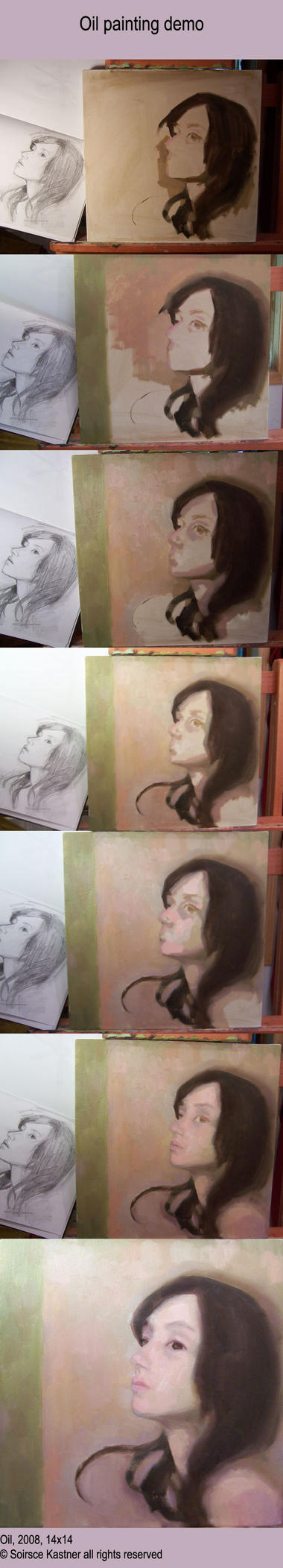 Oil painting demo by Soirsce