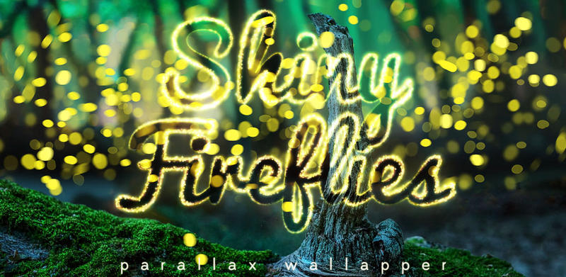 shiny fireflies parallax wallpaper text by maystone on