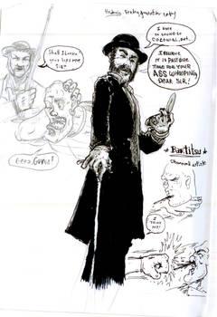 Steampunk Bartitsu Drawing 1