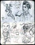 VIGIL character sketches by FWACATA