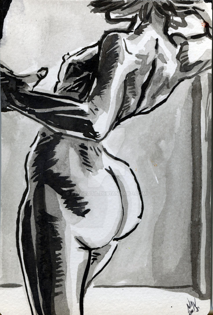 Figure Drawn in Ink by FWACATA
