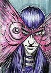 X-men Psylocke Sketch Card by FWACATA
