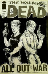 Walking Dead Zombie years Crossover Sketchcover