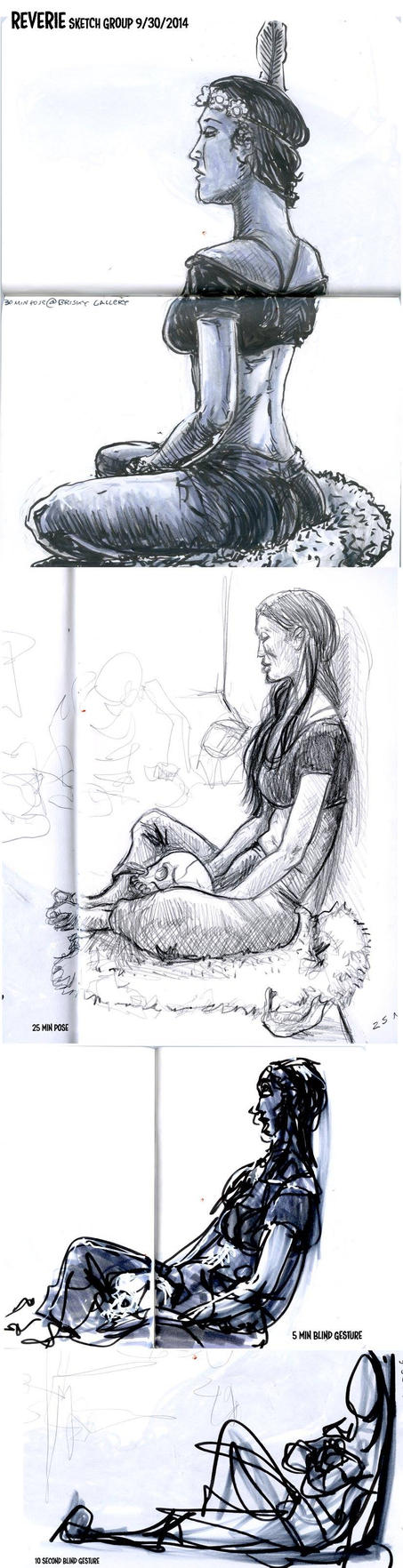 REVERIE figure drawings by FWACATA