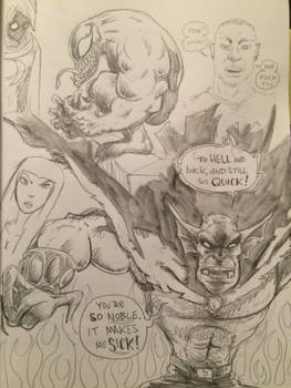 Late night pencils, Etrigan and Venom