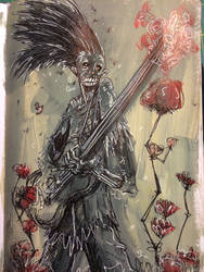 Eternal Guitarist playing for a Rose by FWACATA