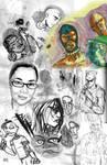 A Mess O Sketches by FWACATA