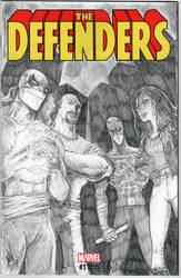 DEFENDERS sketch cover - Pencils
