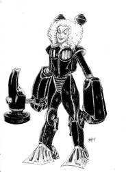Steampunk Mary Black and White