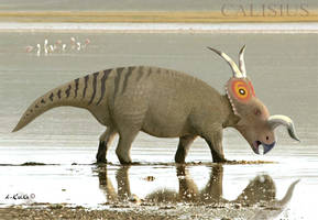 Einiosaurus on a Floodplain by Calisius