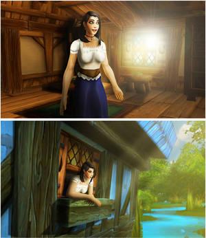 The Return of Giantess Lora - Comic WIP