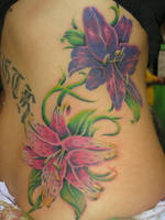 Rib Flowers by tattoosbysteve
